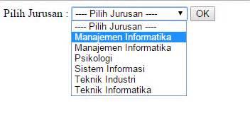 membuat combobox html membuat dropdown list dinamis database combobox dengan