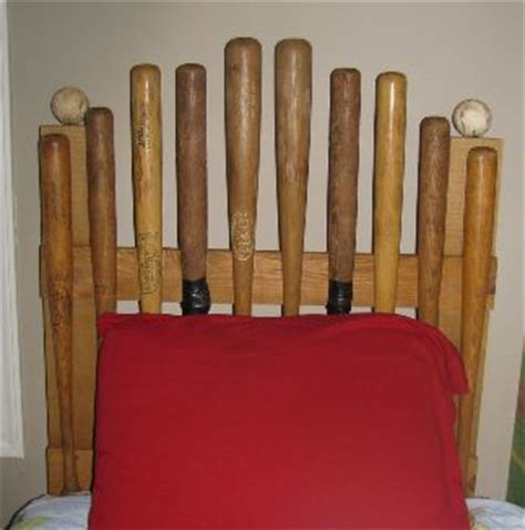 baseball bat headboard diy baseball headboard is this cute or what kristin