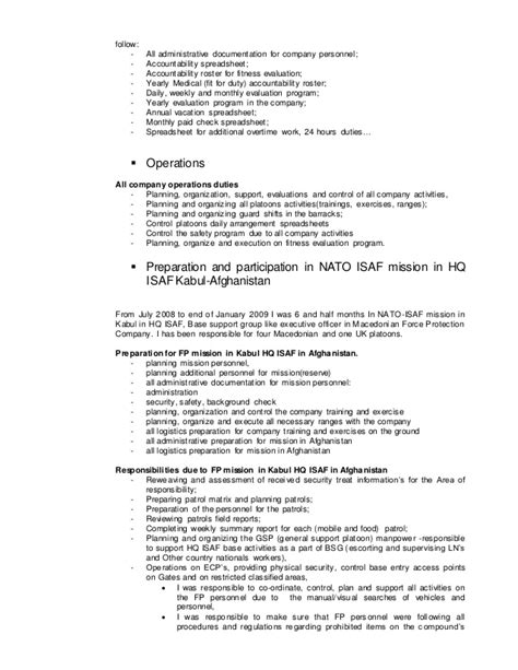 Snowboard Instructor Sle Resume by Cv Resume Dejan Mladenovski 1 Jan 15 2014