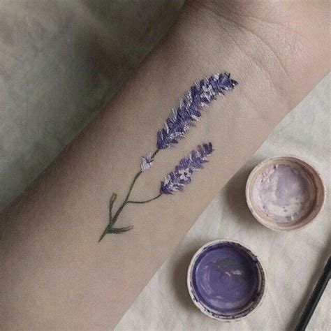 tumblr flower tattoos purple flower