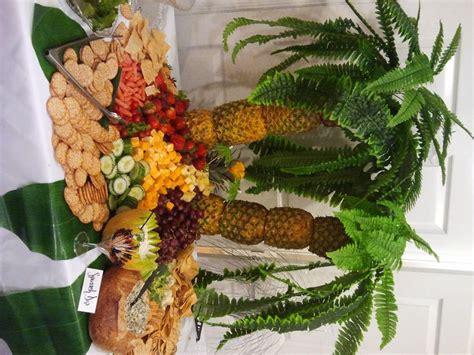 fruit palm tree kit luau pineapple palm tree fresh fruit display kit