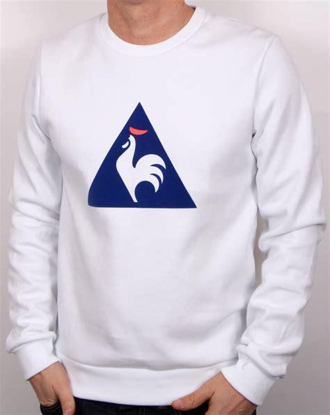 Hoodie Sweater Vespa Front Logo le coq sportif coq logo sweatshirt white s jumper