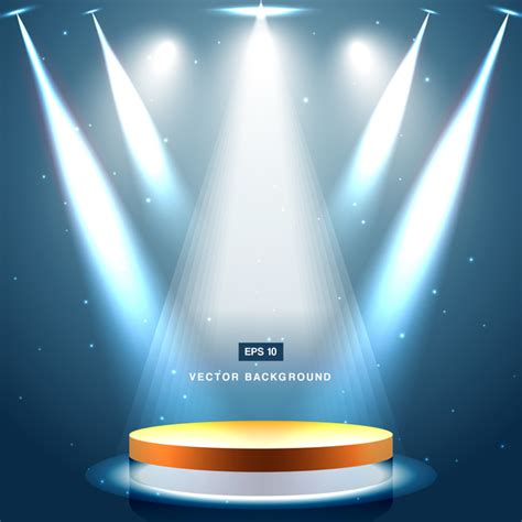 free stage background design vector blue spotlight with stage background vector 01 vector