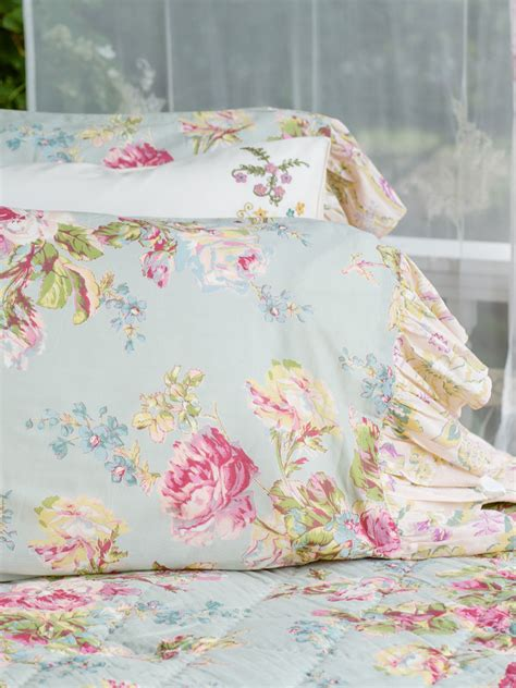 april cornell bedding victorian rose pillowcase sage bedding pillowcases