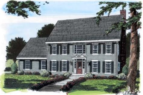 colonial garage plans colonial style house plans 2616 square foot home 2