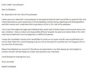 Housekeeper Cover Letter Sle by Housekeeper Cover Letter Exle Icover Org Uk