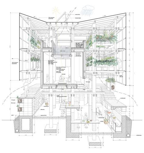 floor plan with perspective house the best architecture drawings of 2015 archdaily