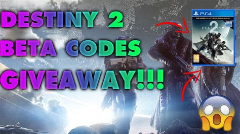 Destiny 2 Beta Code Giveaway - destiny 2 beta codes giveaway youtube