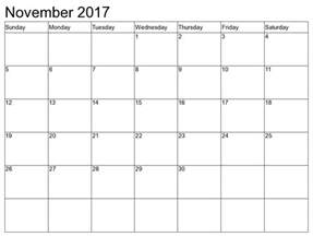 november 2017 calendar 2017 calendar printables