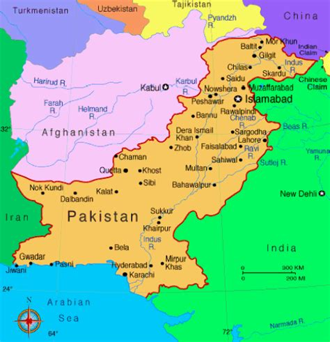 where is pakistan on the map pakistan maps map of pakistan political railway