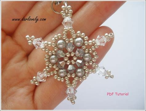 how to make a beaded snowflake 5386 best beading ornaments jewelery images on