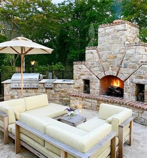 outdoor kitchen and fireplace designs 30 gorgeous outdoor kitchens style estate
