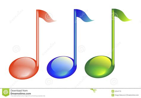 imagenes de notas musicales en colores notas musicales stock de ilustraci 243 n ilustraci 243 n de verde