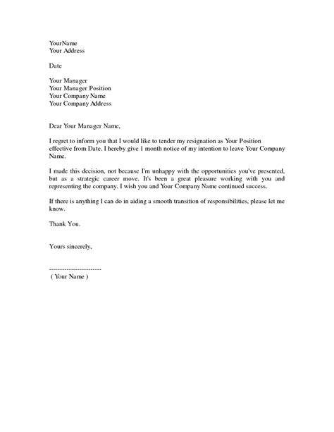 A Letter Of Resignation by Dos And Don Ts For A Resignation Letter