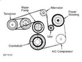 1995 ford taurus serpentine belt engine mechanical