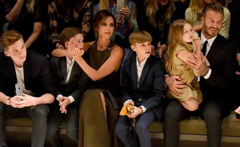 The Beckhams Are david beckham bring family to burberry