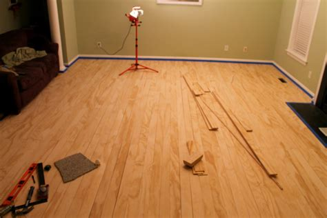 Stained Plywood Floor by Plywood Floors