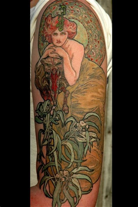 mucha tattoo 314 best images about mucha nouveau tattoos on