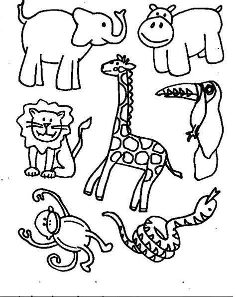 wild animals coloring pages preschool free wild animal coloring pages az coloring pages free