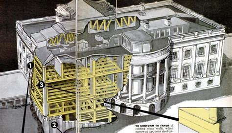 white house drawing white house cutaway drawing 1950 invisible themepark
