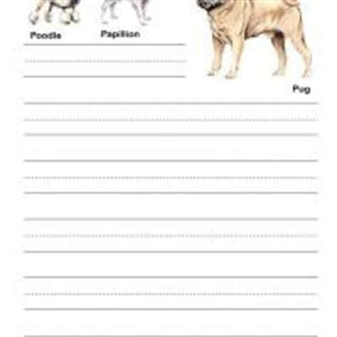 printable writing paper with dogs dogs kids writing paper