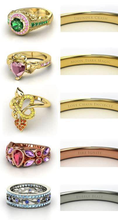 here are two more gemvara engagement rings designed by the disney my big geeky wedding