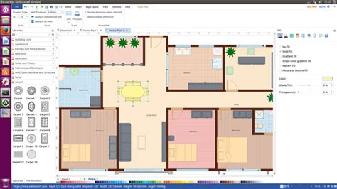 sweet floor plan software for linux design floor plan and arrange furniture quickly