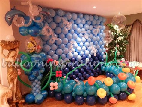 theme decorations sea world themed balloon decorations
