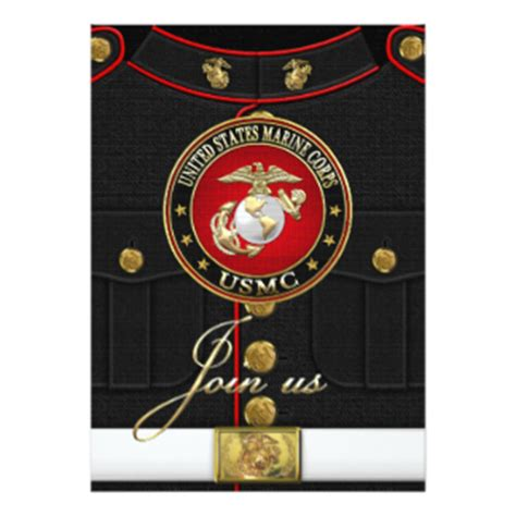 Marine Corps Count Cards Template by Marine Invitations Announcements Zazzle