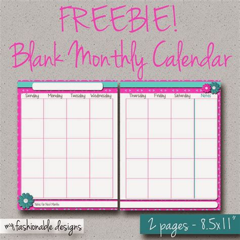 free printable 2016 2 page monthly calendar 5 5 x 8 5 my fashionable designs free printable 2 page monthly