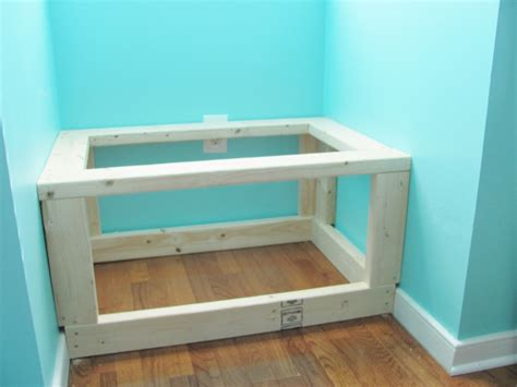 build window bench silver lining decor diy built in window seat and storage