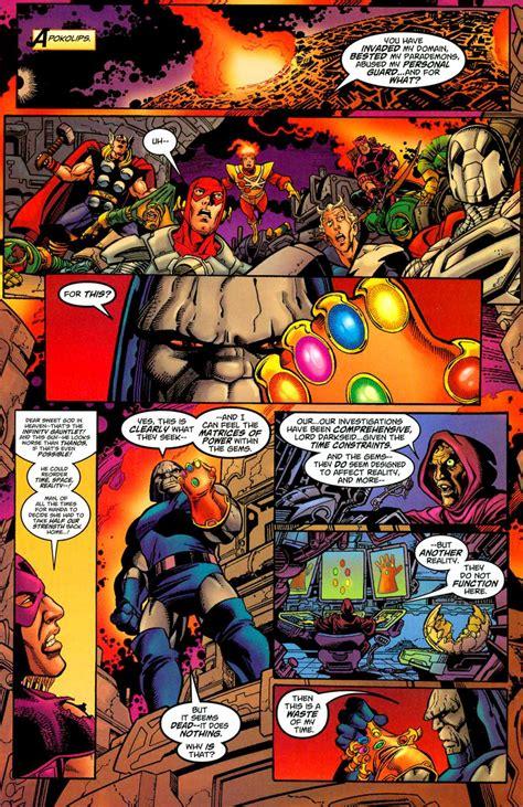 darkseid infinity gauntlet fan made darkseid vs thanos by gallagher looks