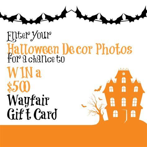 Where Can I Buy A Wayfair Gift Card - happy halloween win a 500 wayfair gift card the happy housie