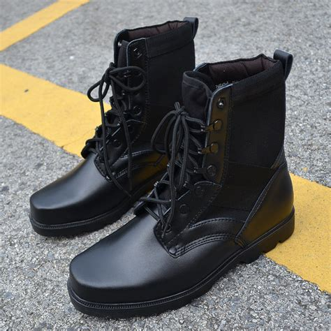 mens designer black boots designer black army jungle tactical combat boots ski
