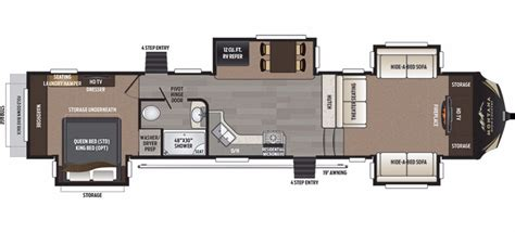 montana fifth wheel floor plans 2017 keystone montana high country 374fl cing world