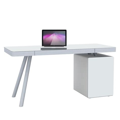 Glass White Desk by Ventura Computer Desk In White Glass And Aluminium 30932