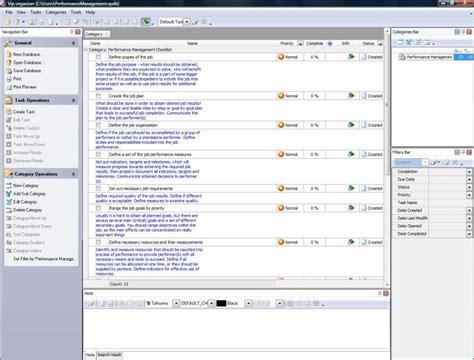 performance management templates management checklist images