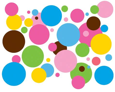 colorful dots baby koo colorful dots wall decals by wall arts