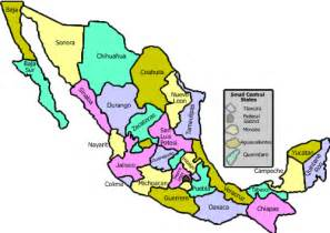 Mexican States Map by Mexico Map