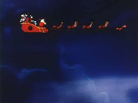 animated santa driving animated santa claus driving sleigh with reindeer through sky sound stock footage getty