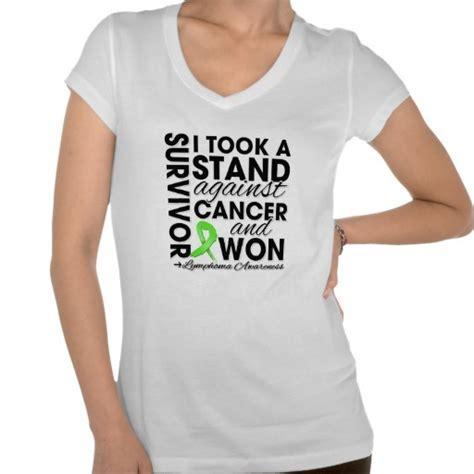 I Won A Shirt by I Took A Stand Against Lymphoma Cancer And Won Shirts