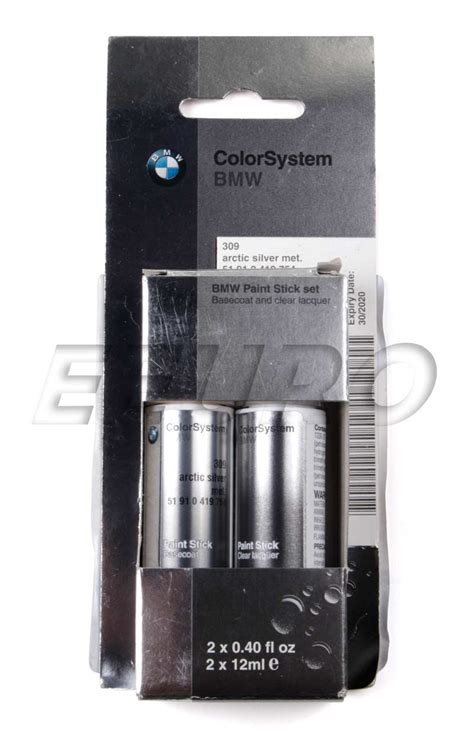 bmw silver touch up paint 51910419754 genuine bmw touch up paint code 309