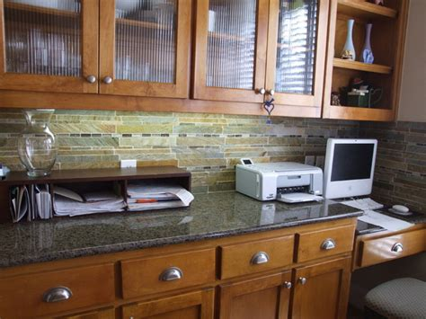slate backsplash traditional kitchen dallas by