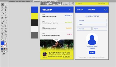 app design template illustrator create an app prototype template with this tutorial