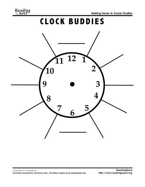 printable clock partners clock partners clock buddies