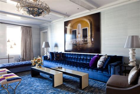 modern living room decoration with royal blue l shaped sectional blue couch living room bernathsandor com