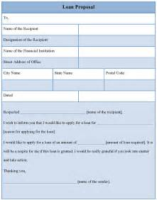 Small Business Loan Proposal Template Proposal Template For Loan Format Of Loan Proposal