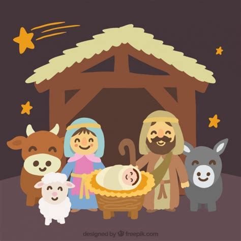 imagenes del nacimiento de jesus para descargar adorable escena del nacimiento pintado a mano descargar