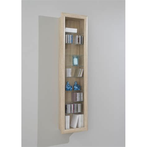Kitchen Wall Display Cabinets Bora9 Wall Mounted Display Cabinet In Beech For 163 99 95 Go Furniture Co Uk