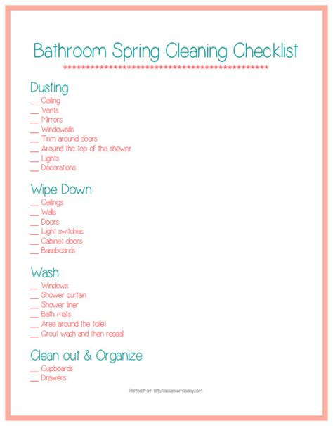 deep clean bathroom checklist best photos of restroom cleaning checklist printable free printable bathroom